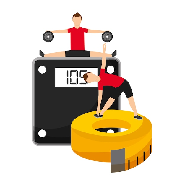 clipart di misura di nastro di perdita di peso