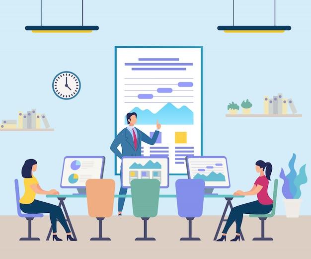 Uomini d'affari che frequentano la formazione professionale Vettore Premium
