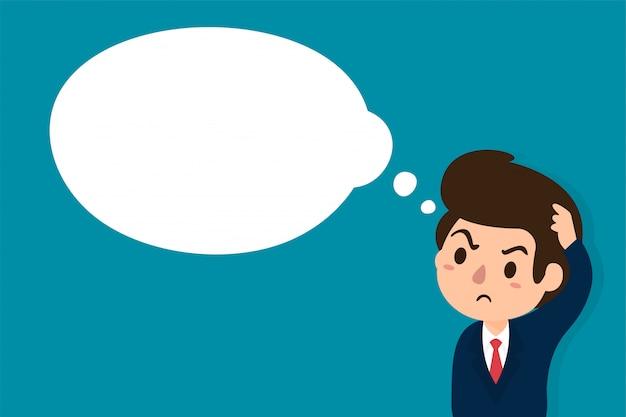 Uomini d'affari che sono scettici o stanno prendendo decisioni Vettore Premium