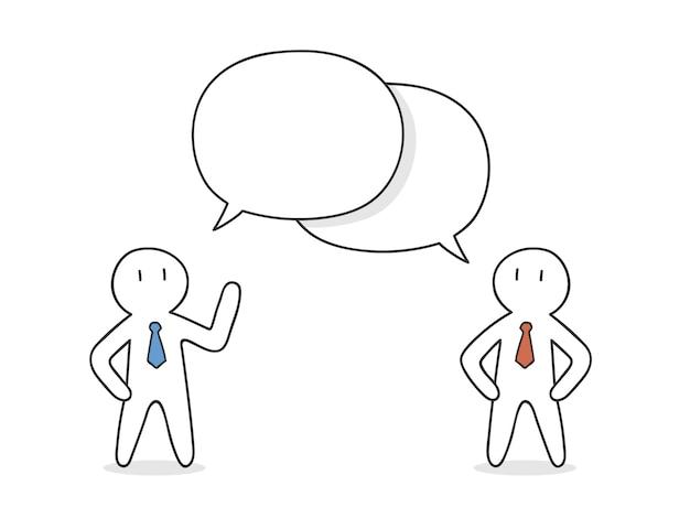 Uomini d'affari parlando di design Vettore gratuito