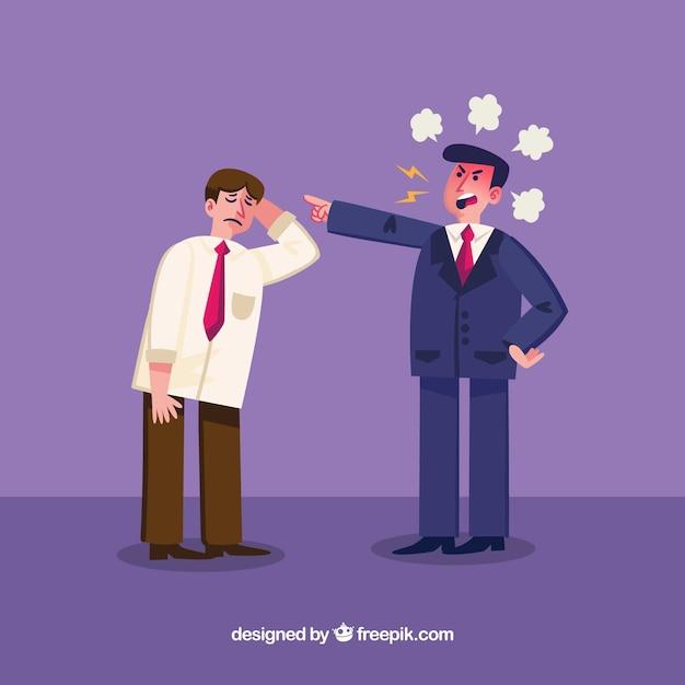 Uomo d'affari arrabbiato con il dipendente Vettore gratuito