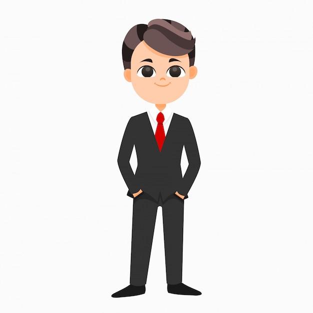 Uomo d'affari in tuta Vettore Premium