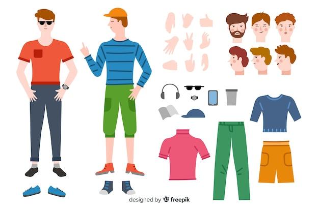 Uomo di cartone animato per motion design Vettore gratuito