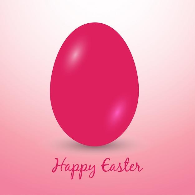 Uova di Pasqua icone Vector illustration Uova di Pasqua per le vacanze di Pasqua di progettazione su sfondo rosa Vettore gratuito