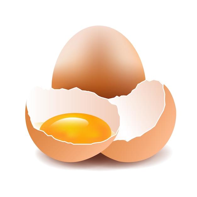 Uova isolate Vettore Premium
