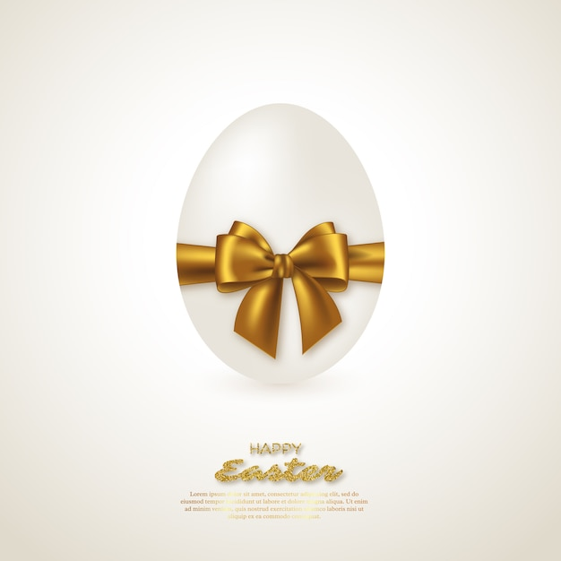 Uovo di pasqua realistico. Vettore Premium