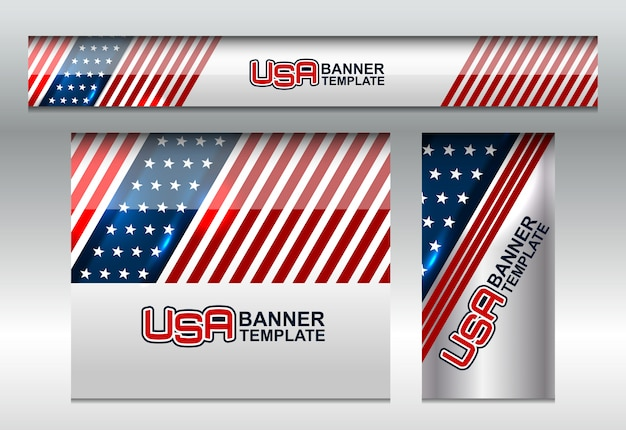 Usa flag background per independence day Vettore Premium