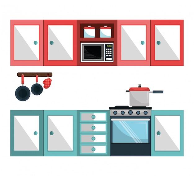 Utensili da cucina e stoviglie Vettore gratuito