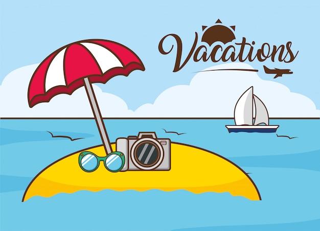 Vacanze al mare Vettore gratuito