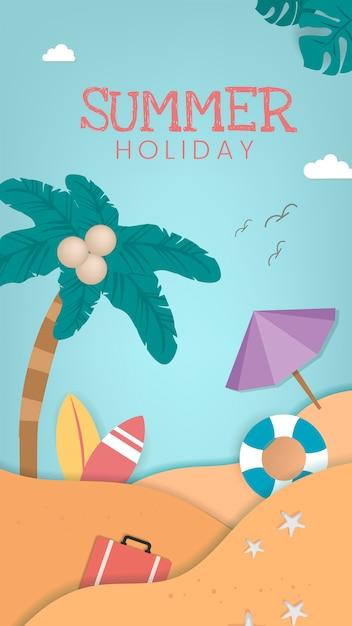 Vacanze estive tropicali Vettore gratuito