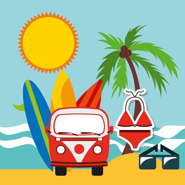 Vacanze estive Vettore Premium