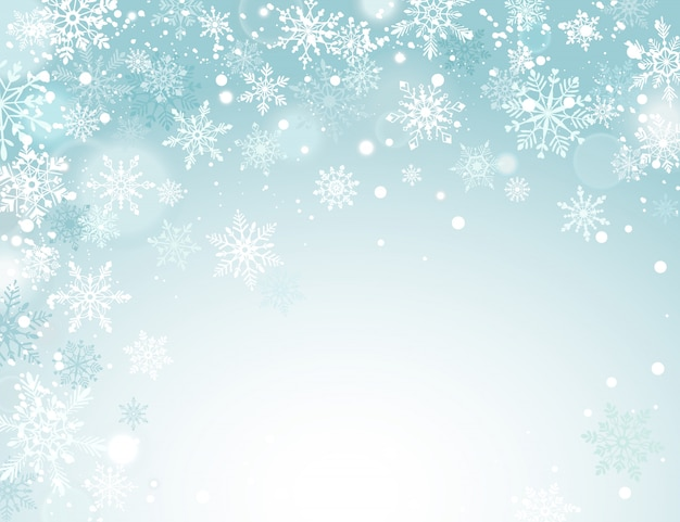 Vacanze invernali sullo sfondo Vettore Premium