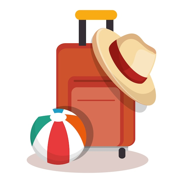Vacanze vacanze icone di viaggio Vettore Premium