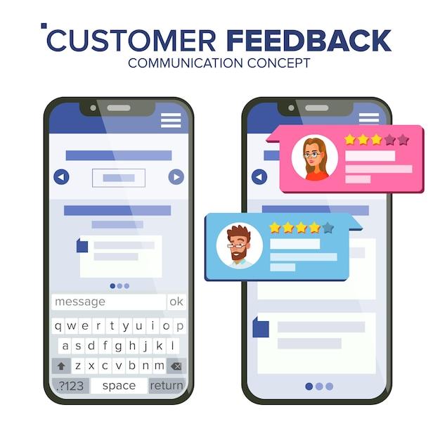 Valutazione del feedback dei clienti Vettore Premium
