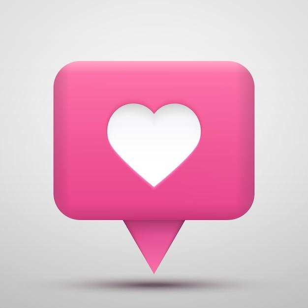 Valutazione del social network vettoriale. seguaci e icona mi piace. Vettore Premium