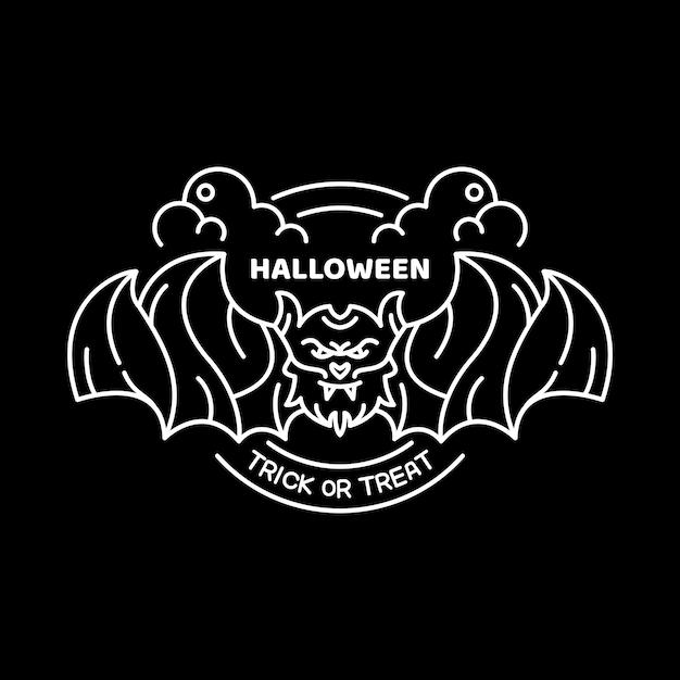 Vampiro di halloween Vettore Premium