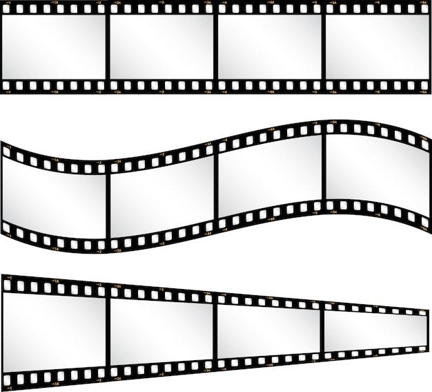 Vari ambiti di filmstrip Vettore gratuito