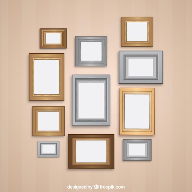 Variet di cornici da parete retr scaricare vettori gratis for Set cornici da parete