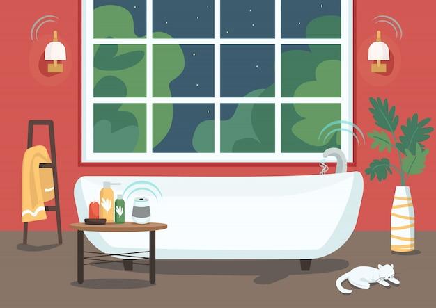 Vasca da bagno intelligente Vettore Premium