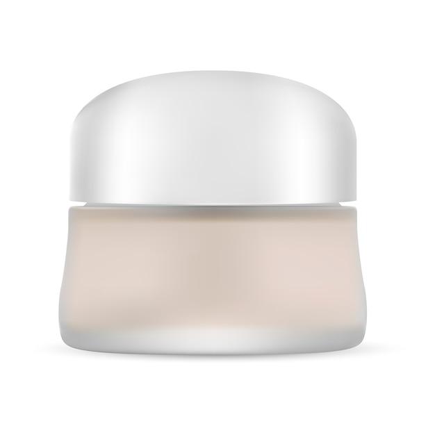 Vaso cosmetico vuoto. imballaggio del contenitore di crema. vettore Vettore Premium