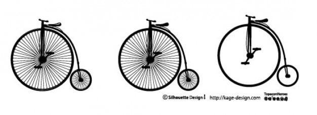 Vecchia bicicletta. grande ruota. Vettore gratuito