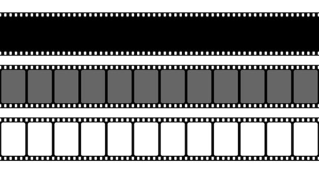 Vecchia cornice di striscia di pellicola retrò, filmstrip di cinema. Vettore Premium