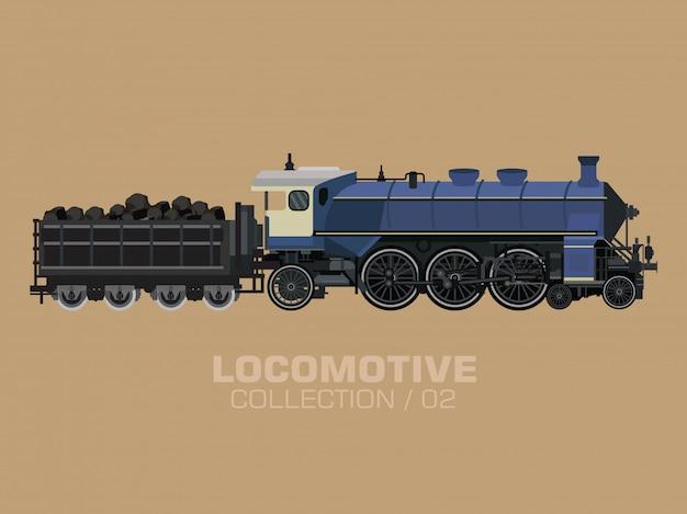 Vecchia locomotiva Vettore Premium