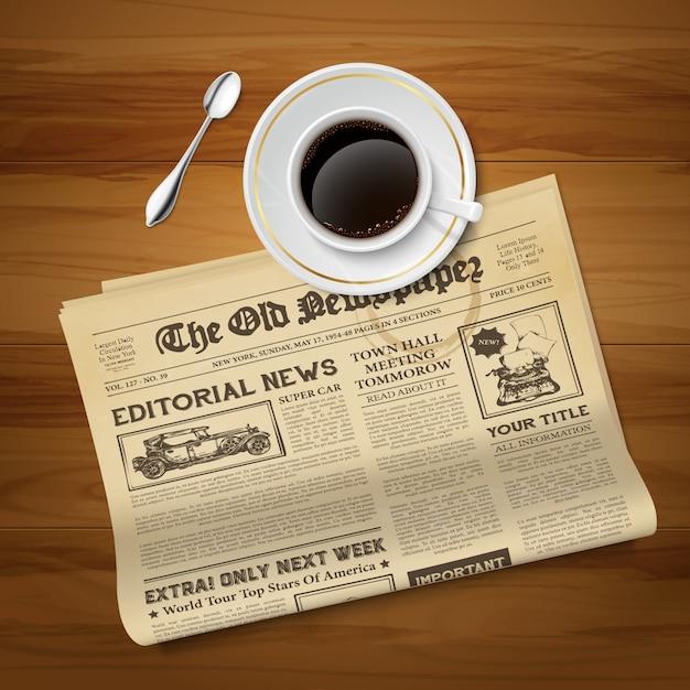 Vecchio giornale vintage Vettore gratuito