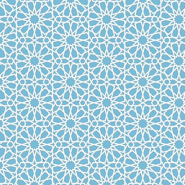 Vector astratto sfondo geometrico islamico. basato su ornamenti musulmani etnici. bande di carta intrecciate. sfondo elegante per carte, inviti ecc. Vettore gratuito