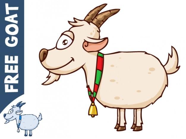 Vector cartone animato di capra scaricare vettori gratis