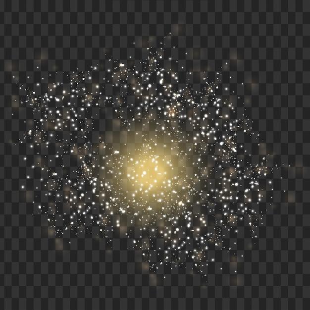 Vector luce traccia con star glitter bagliore effetto magico Vettore gratuito