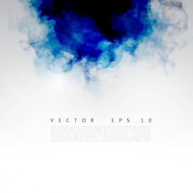 Vector nuvola blu. Vettore gratuito