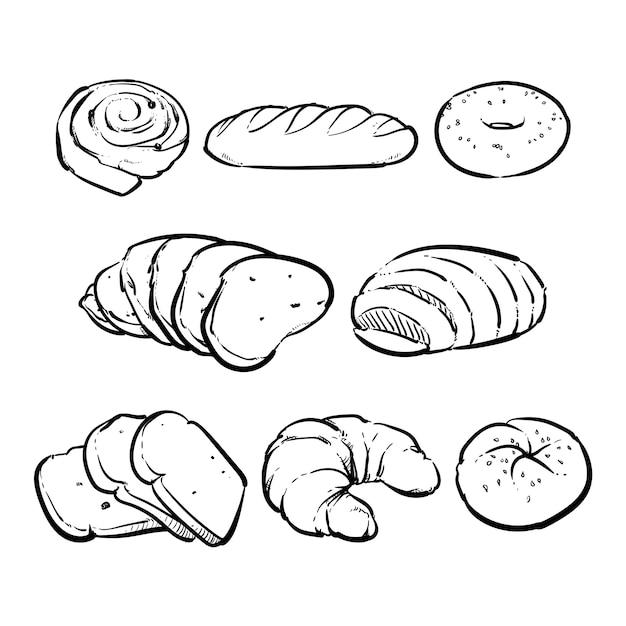 Vector pane fresco su uno sfondo bianco Vettore Premium