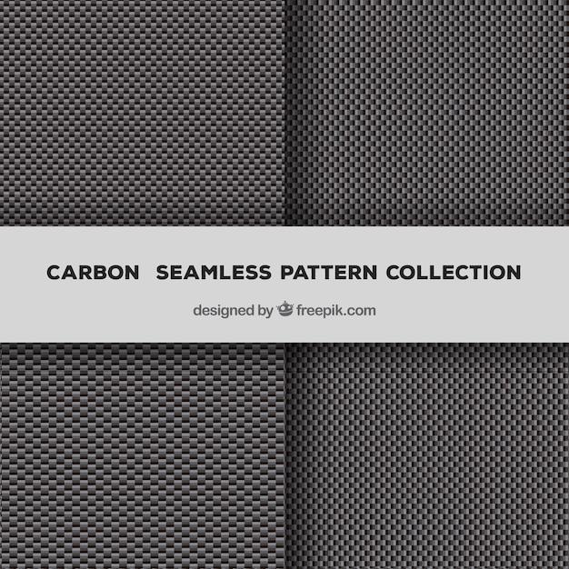 Vector seamless pattern in fibra di carbonio Vettore gratuito