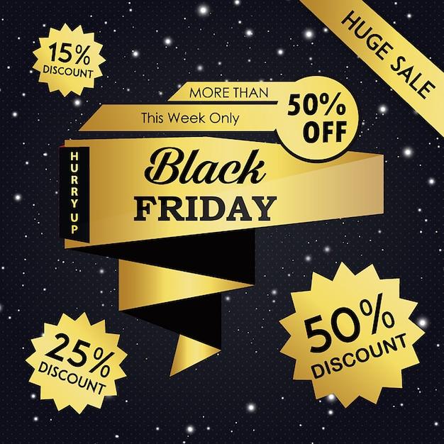 Vector sfondi nero venerdì Vettore gratuito