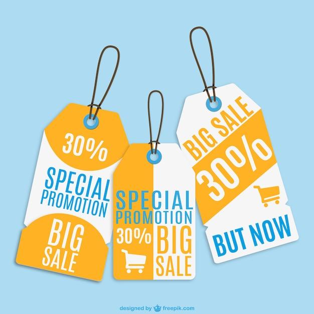 Vendita cartellini dei prezzi fissati Vettore gratuito