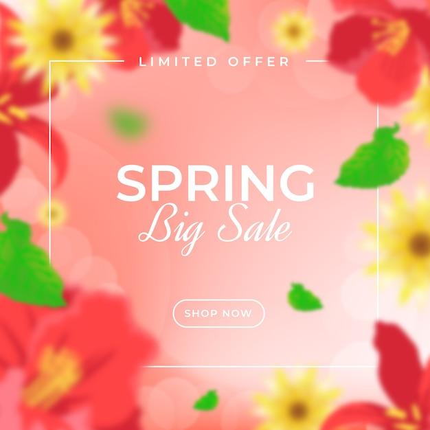 Vendita di primavera offuscata Vettore gratuito