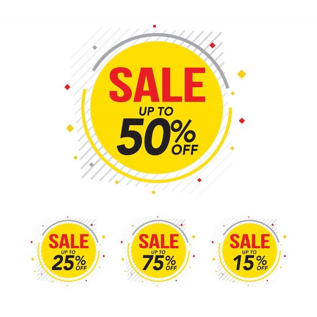 Vendita e offerta speciale tag, cartellini dei prezzi Vettore Premium