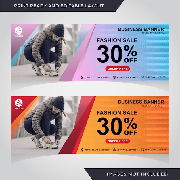 Vendita modello di banner design Vettore Premium