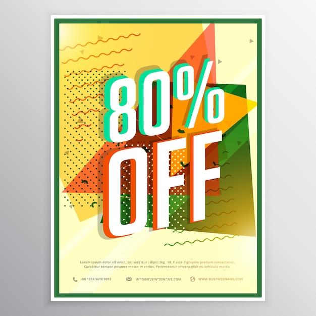 Vendita poster bandiera volantino concetto di design for Concetto di design moderno bungalow