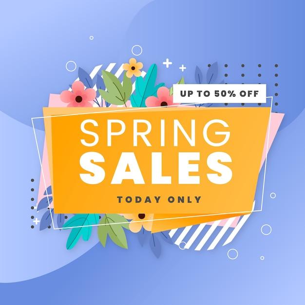 Vendite di design piatto primavera solo oggi Vettore gratuito