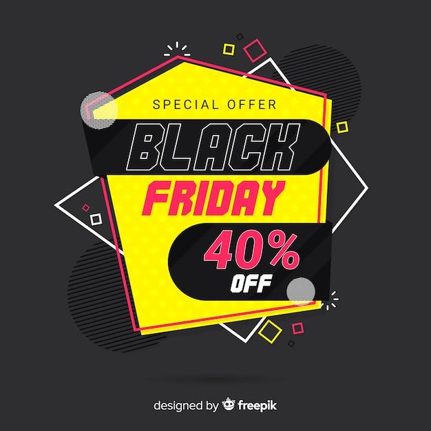 Venerdì nero colorato in design piatto Vettore gratuito