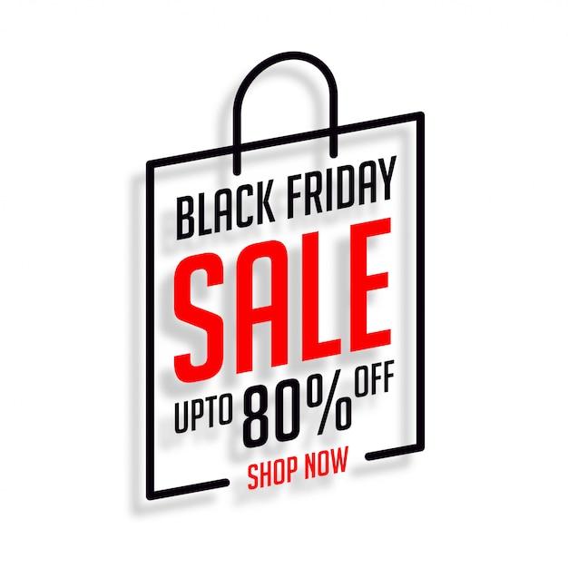 Venerdì nero shopping vendita sfondo Vettore gratuito