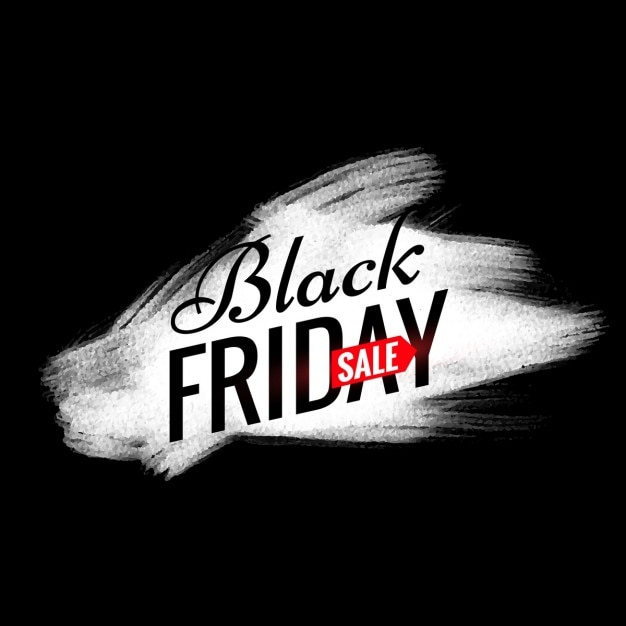 Venerd nero vendita design con effetto pennello bianco for Design vendita