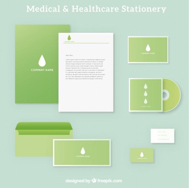 Verde cancelleria medico Vettore Premium