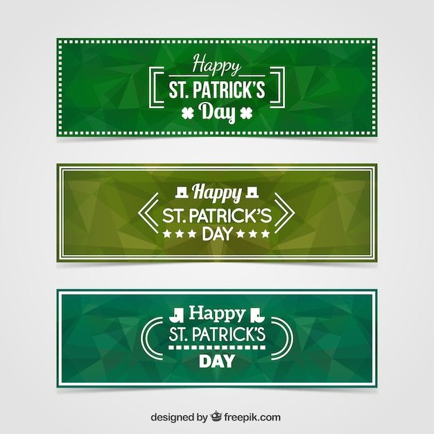 Verde geometrico st bandiere di giorno di patrick - St patricks giorno fogli di colore giorno ...