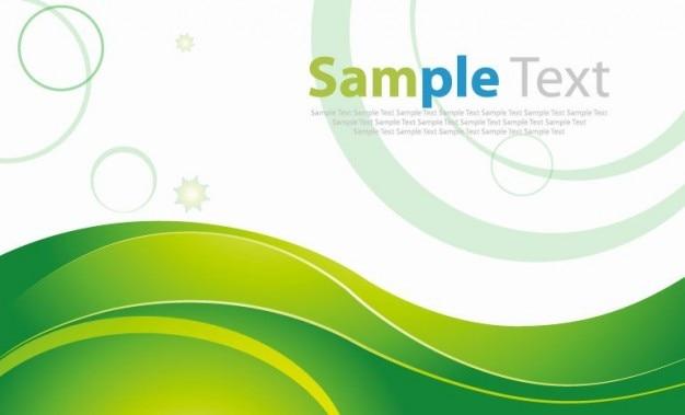 Verde onda sfondo vettoriale Vettore gratuito