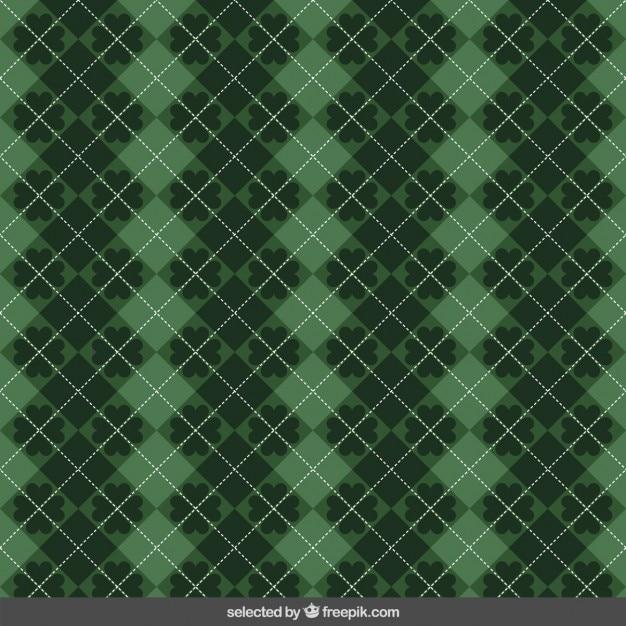 Verde percalle st. patricks modello Vettore gratuito