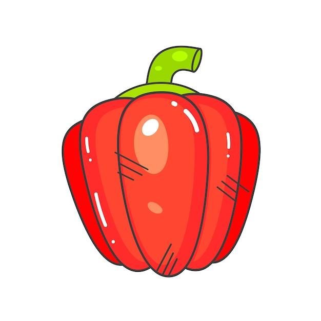 Verdura fresca del peperone Vettore Premium