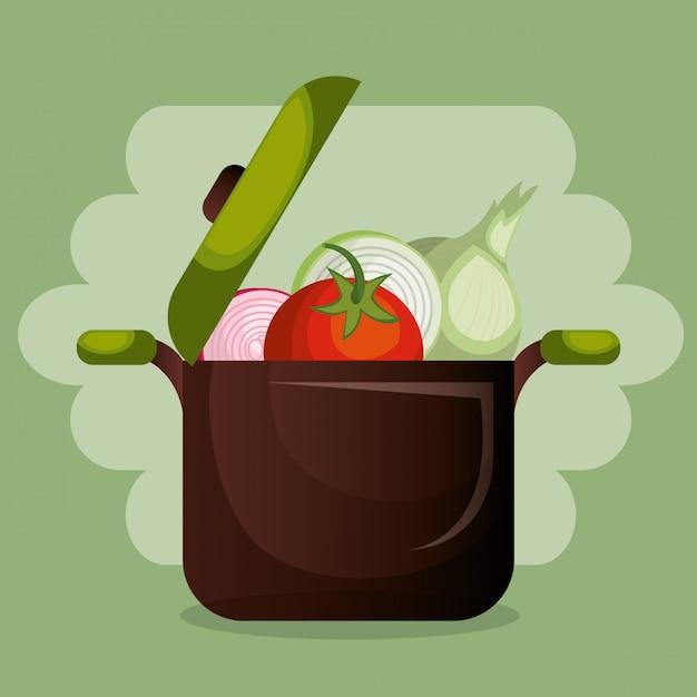 Verdure fresche cibo sano Vettore gratuito